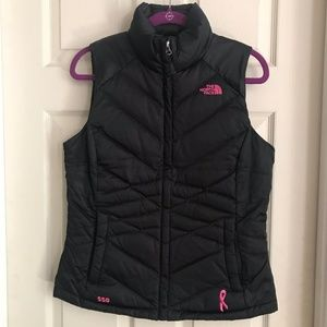 The North Face Puffer Parka w/Breast Cancer Ribbon